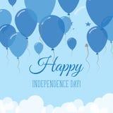 Tarjeta de felicitación plana del Día de la Independencia de Honduras Fotografía de archivo