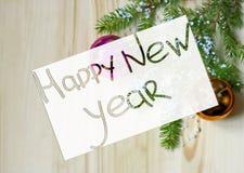 Tarjeta de felicitación por el Año Nuevo Fotos de archivo libres de regalías
