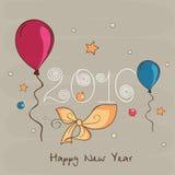 Tarjeta de felicitación por la Feliz Año Nuevo 2016 Foto de archivo