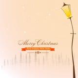 Tarjeta de felicitación por la Navidad y el Año Nuevo Fotos de archivo