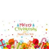 Tarjeta de felicitación por la Navidad y el Año Nuevo Foto de archivo