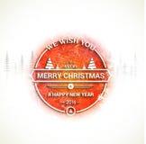Tarjeta de felicitación por la Navidad y el Año Nuevo 2016 Foto de archivo