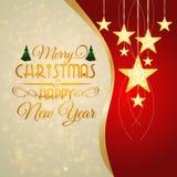 Tarjeta de felicitación por la Navidad y el Año Nuevo Imagenes de archivo