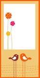 Tarjeta de felicitación retra Imagen de archivo libre de regalías