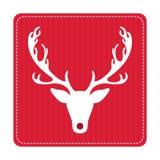 Tarjeta de felicitación retra creativa de la Feliz Navidad Ciervos divertidos del inconformista Fotos de archivo libres de regalías