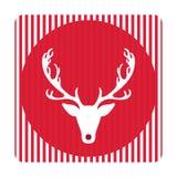 Tarjeta de felicitación retra creativa de la Feliz Navidad Ciervos divertidos del inconformista Foto de archivo