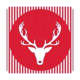 Tarjeta de felicitación retra creativa de la Feliz Navidad Ciervos divertidos del inconformista Fotografía de archivo