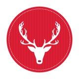 Tarjeta de felicitación retra creativa de la Feliz Navidad Ciervos divertidos del inconformista Foto de archivo libre de regalías