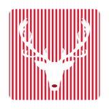 Tarjeta de felicitación retra creativa de la Feliz Navidad Ciervos divertidos del inconformista Fotografía de archivo libre de regalías