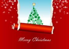 Tarjeta de felicitación roja de la Navidad Imágenes de archivo libres de regalías