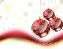 Tarjeta de felicitación roja de la Navidad Fotos de archivo libres de regalías