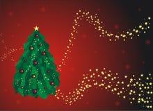 Tarjeta de felicitación roja de la Navidad Foto de archivo