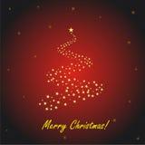 Tarjeta de felicitación roja de la Navidad Imagenes de archivo
