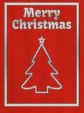 Tarjeta de felicitación roja de la Navidad con bordado Imágenes de archivo libres de regalías