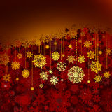 Tarjeta de felicitación roja de la Navidad. EPS 8 Fotos de archivo libres de regalías