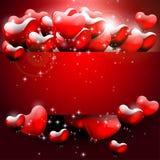 Tarjeta de felicitación roja del día de tarjeta del día de San Valentín Imagen de archivo libre de regalías