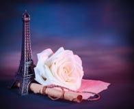 Tarjeta de felicitación romántica Imágenes de archivo libres de regalías