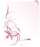 Tarjeta de felicitación rosada de la cinta Foto de archivo libre de regalías