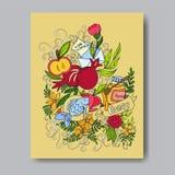 Tarjeta de felicitación de Rosh Hashanah Imágenes de archivo libres de regalías