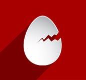 Tarjeta de felicitación rota del huevo de Pascua Imagenes de archivo