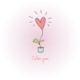 Tarjeta de felicitación - saludos del amor Imagen de archivo