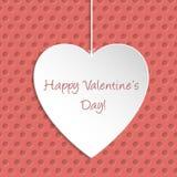 Tarjeta de felicitación simple de Valentine Day Imagen de archivo libre de regalías