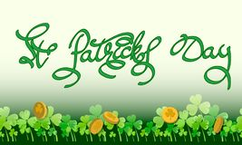 Tarjeta de felicitación St Patrick imagenes de archivo
