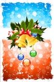 Tarjeta de felicitación sucia de la Navidad Fotografía de archivo
