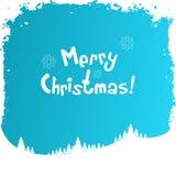 Tarjeta de felicitación sucia de la Navidad Imagenes de archivo