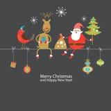 Tarjeta de felicitación, tarjeta de Navidad