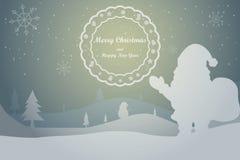 Tarjeta de felicitación, tarjeta de Navidad Imagenes de archivo