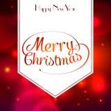 Tarjeta de felicitación tipográfica de la Feliz Navidad Fotos de archivo libres de regalías