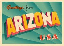 Tarjeta de felicitación turística del vintage de Arizona libre illustration