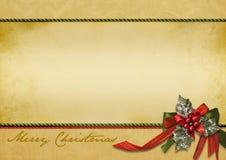 Tarjeta de felicitación vieja de la Navidad Fotos de archivo