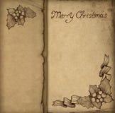 Tarjeta de felicitación vieja de la Navidad Imagen de archivo libre de regalías