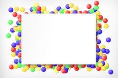 Tarjeta de felicitación y confeti ilustración del vector