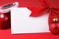 Tarjeta de felicitación y decoración de la Navidad Imágenes de archivo libres de regalías