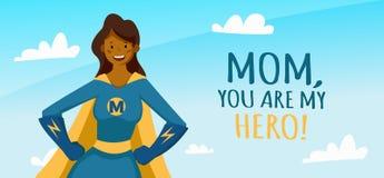 tarjeta de felicitaci?n del d?a de madres libre illustration