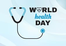 Tarjeta de felicitaci?n para el d?a de salud de mundo Vector libre illustration