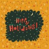 Tarjeta de felicitación buenas fiestas Foto de archivo libre de regalías