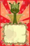 Tarjeta de felicitación con el dragón Imágenes de archivo libres de regalías