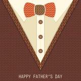 Tarjeta de felicitación creativa para el día de padre Foto de archivo