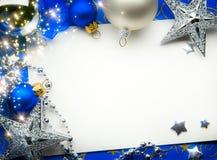 Tarjeta de felicitación de Art Christmas Imágenes de archivo libres de regalías