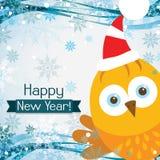 Tarjeta de felicitación de la Navidad de la plantilla con un gallo, vector Fotos de archivo