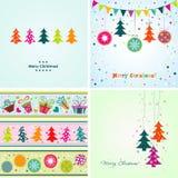 Tarjeta de felicitación de la Navidad de la plantilla, ejemplo del vector Imágenes de archivo libres de regalías