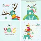 Tarjeta de felicitación de la Navidad, vector Fotos de archivo libres de regalías