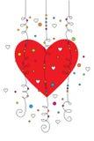 Tarjeta de felicitación de la tarjeta del día de San Valentín 03 Fotografía de archivo libre de regalías