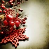 Tarjeta de felicitación de la vendimia de la Navidad Fotografía de archivo libre de regalías