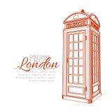 Tarjeta de felicitación de Londres Imagen de archivo libre de regalías