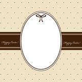 Tarjeta de felicitación de Pascua Imagen de archivo
